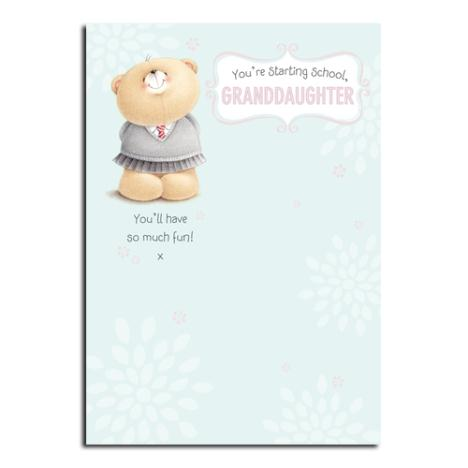 Granddaughters 1st Day of School Forever Friends Card