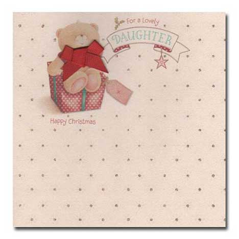 Lovely Daughter Christmas Vintage Forever Friends Card