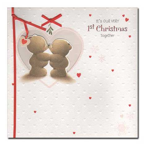 Our 1st Christmas Together Forever Friends Card