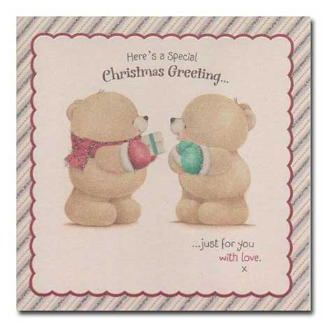 Christmas Greeting with Love Forever Friends Card