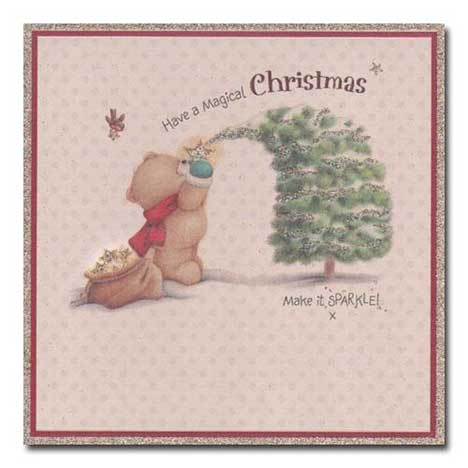 Magical Christmas Vintage Forever Friends Card