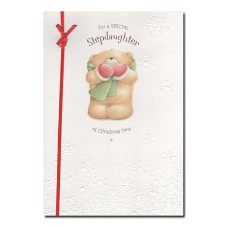Stepdaughter Forever Friends Christmas Card