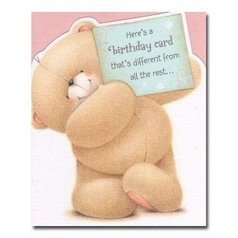Birthday Sign Forever Friends Card