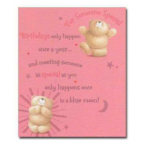 For Someone Special Birthday Forever Friends Card