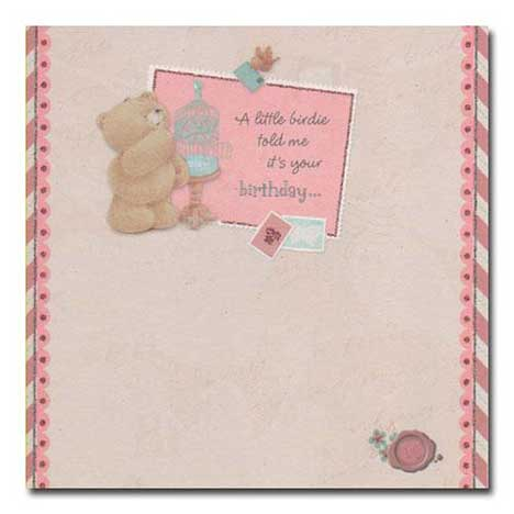 A little Birdie told me its Your Birthday Forever Friends Card