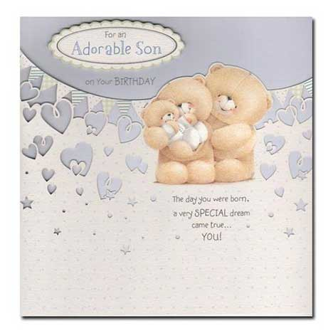 Adorable Son Birthday Forever Friends Card