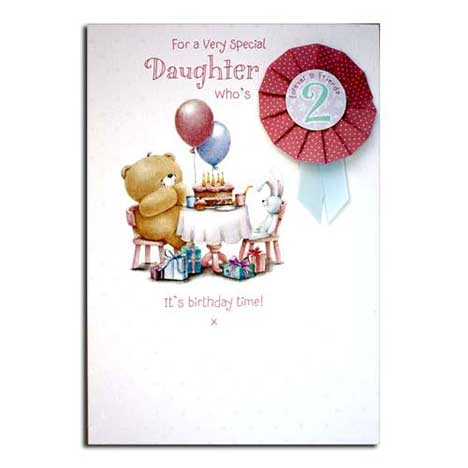 Daughters 2nd Birthday Forever Friends Card