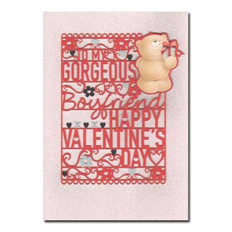 Gorgeous Boyfriend Forever Friends Valentines Day Card