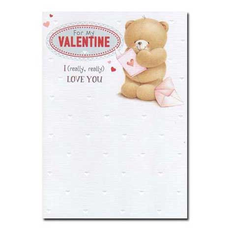 For My Valentine Forever Friends Valentines Day Card