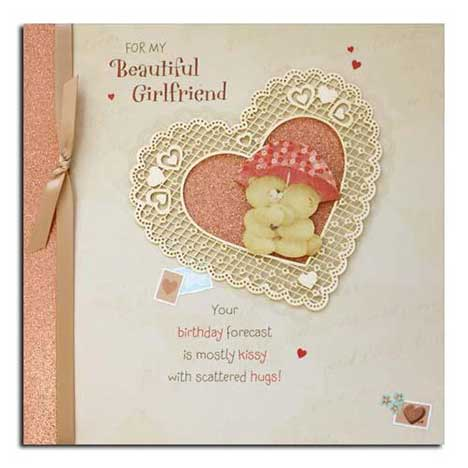 Beautiful Girlfriend Birthday Forever Friends Card