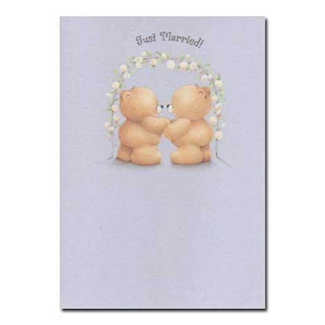 Just Married Forever Friends Wedding Card