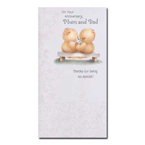 Mum and Dad Anniversary Forever Friends Card