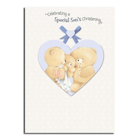 Sons Christening Forever Friends Card