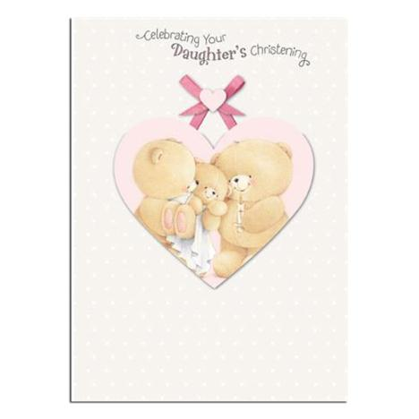 Daughter Christening Day Forever Friends Card