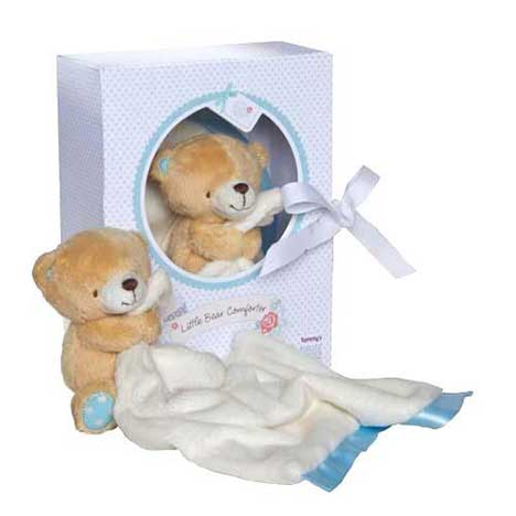 Little Bear Forever Friends Blue Comforter in Display Box