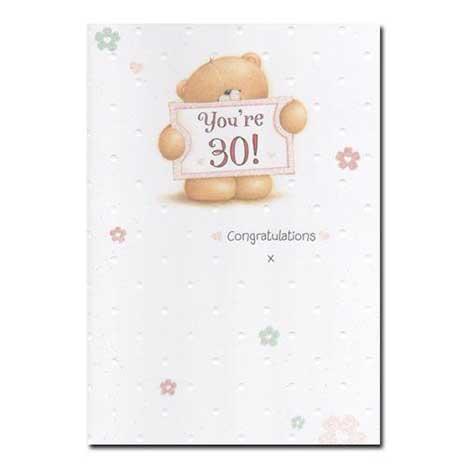 30th Birthday Forever Friends Card Forever Friends Official Store