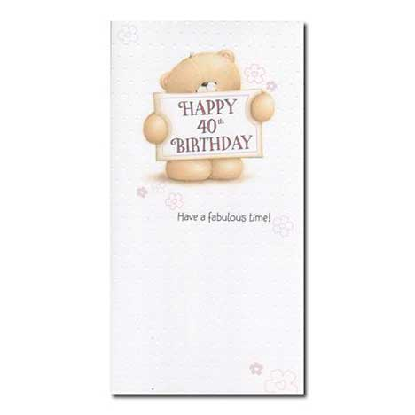 40th Birthday Forever Friends Card Forever Friends Official Store