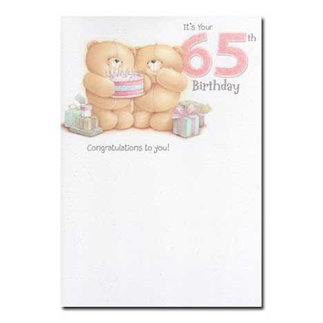 65th Birthday Forever Friends Card