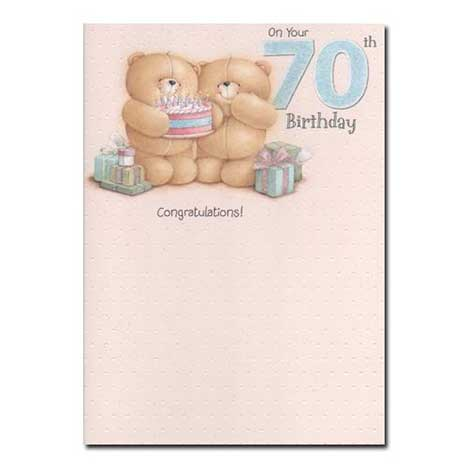 70th Birthday Forever Friends Card
