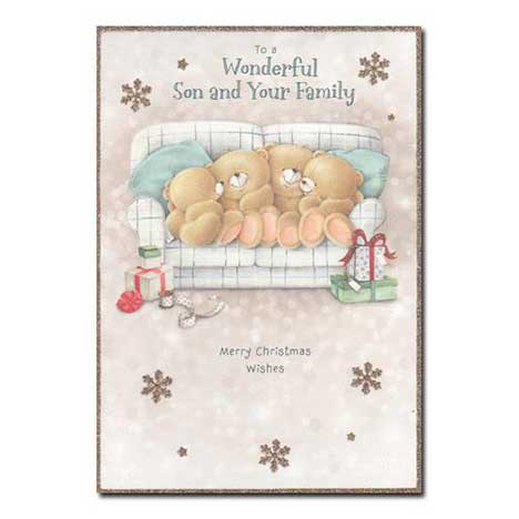Son and Your Family Forever Friends Christmas Card