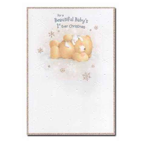 Beautiful Babys first ever Christmas Forever Friends Card