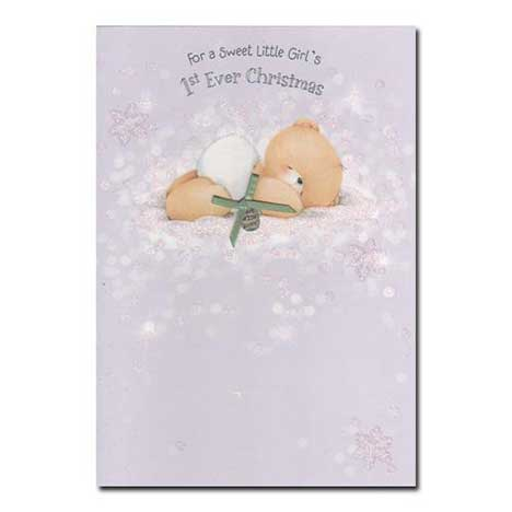 Little Girls First Ever Christmas Forever Friends Card