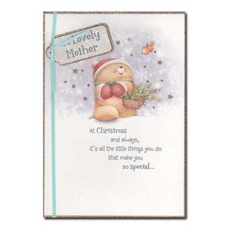 Mother at Christmas Forever Friends Christmas Card