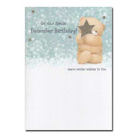 December Birthday Forever Friends Card
