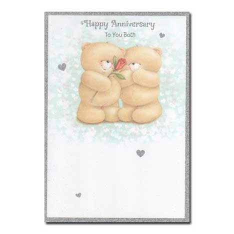 Happy Anniversary To You Both Forever Friends Card
