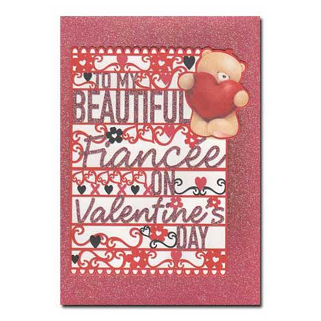 Fiancee Forever Friends Valentines Day Card