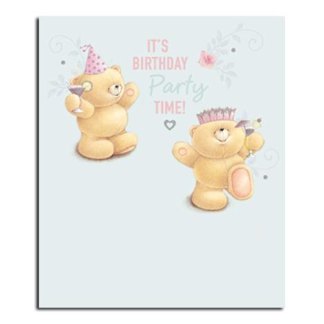 Birthday Party Time Forever Friends Card