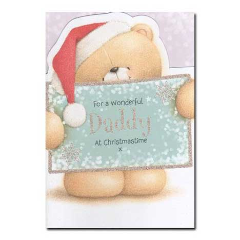 Wonderful Daddy Forever Friends Christmas Card
