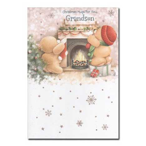 Grandson Forever Friends Christmas Card