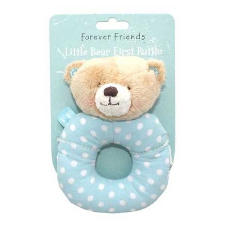 Blue Forever Friends Little Bear Baby Boy Rattle