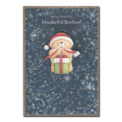 Wonderful Brother Forever Friends Christmas Card