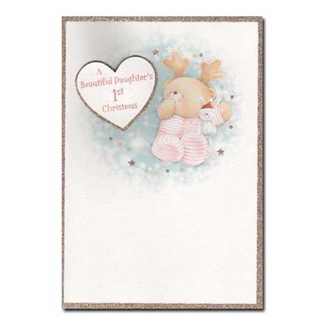 Daughters First Christmas Forever Friends Card