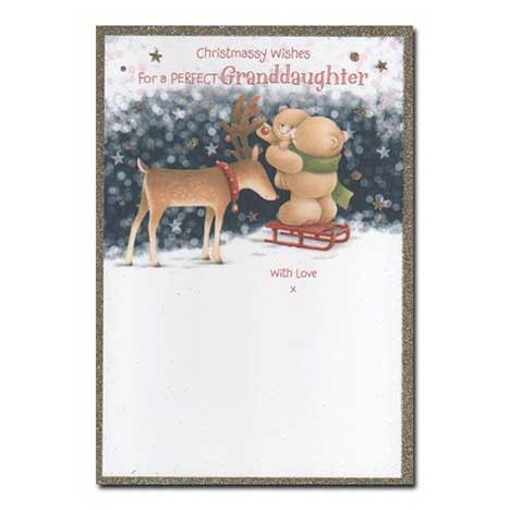 Perfect Granddaughter Forever Friends Christmas Card