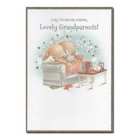 Lovely Grandparents Forever Friends Christmas Card