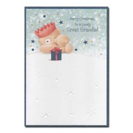 Great Grandad Forever Friends Christmas Card