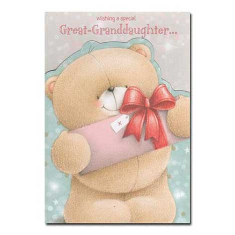 Great-Granddaughter Forever Friends Christmas Card