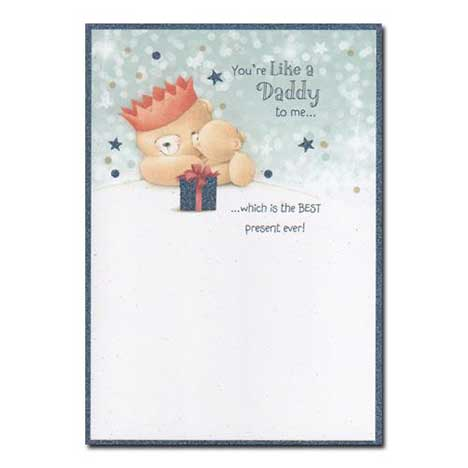 Like a Daddy to Me Forever Friends Christmas Card