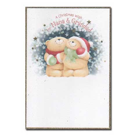 Nana & Grandad Forever Friends Christmas Card