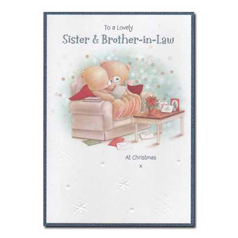 Sister and Brother-In-Law Forever Friends Christmas Card