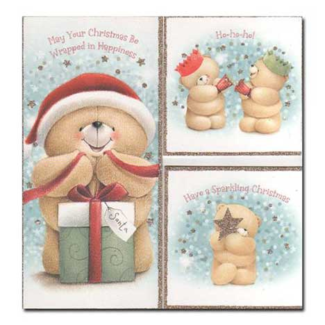 18 Forever Friends Christmas Cards Pack