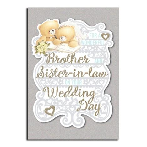 Brother & Sister-In-Law Wedding Day Forever Friends Card