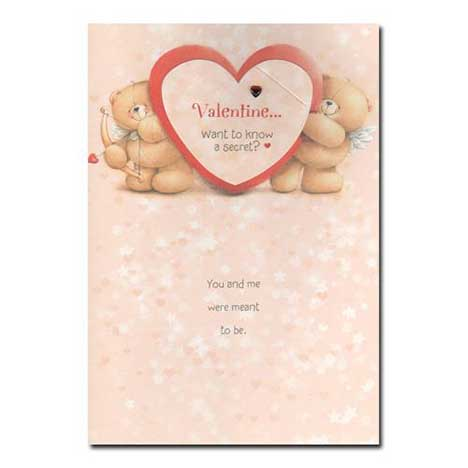 Valentine Forever Friends Valentines Day Card