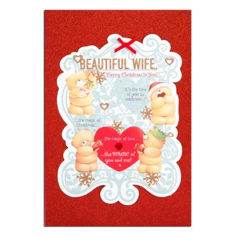 Beautiful Wife Forever Friends Christmas Card