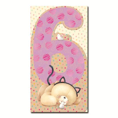 6th Birthday Forever Friends Card