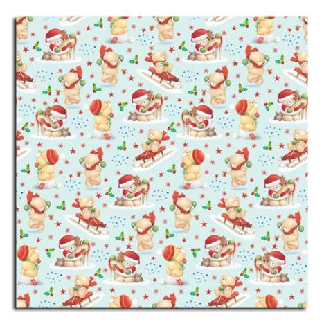 3m Light Blue Forever Friends Christmas Roll Wrap