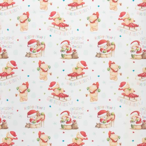 3m White Forever Friends Christmas Roll Wrap